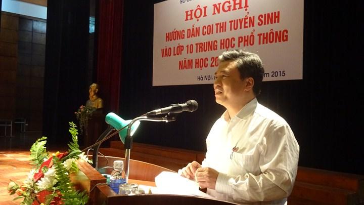 Ảnh giám đốc Sở phát biểu tại hội nghị - http://c3thachban.edu.vn